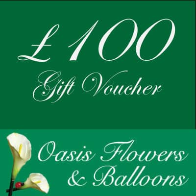 £100 Oasis Flowers and Balloons Gift Voucher