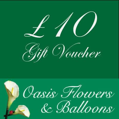 £10 Gift Voucher Oasis Flowers and Balloons