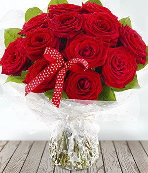 Image of 123 Forerver, 12 Red Roses for Valentines Day from Oasis Flowers, Bromsgrove Florist