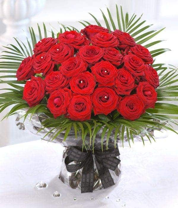 Image of 24 Red Roses - Valentines Day Flowers