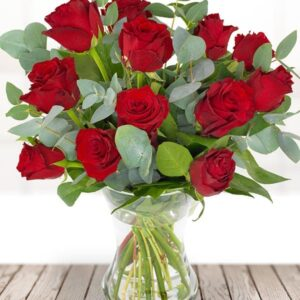 Image of dozen red roses - valentines day