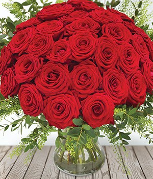 Image of 50 Roses for Valentines Day in Bromsgrove