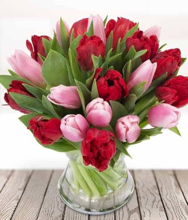 image of love heart flower bouquet valentines day flowers