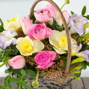 image of pretty spring flowers for mother day