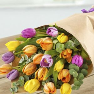 Image of Tulip Zest flowers for mothers day from oasis flowers